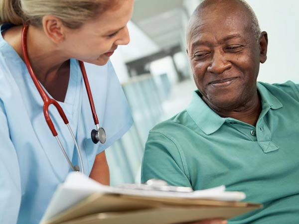 nephrologist checking on patient health